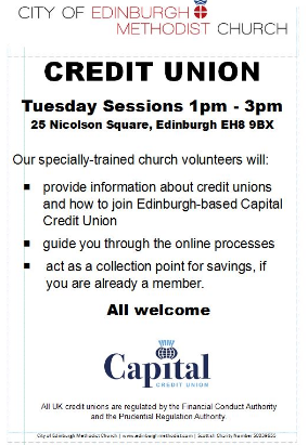 credit union pamphlet of Edinburgh Methodist church